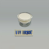 Double-wall (2-layer) 100ml Triangle Cream Jar.